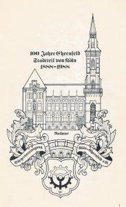 """Grafik von Gerhard Wilczek angefertigt anlässlich der Feierlichkeiten """"100 Jahre Ehrenfeld - Stadtteil von Köln"""" im Jahr 1988 (copyright: Bürgervereinigung Köln-Ehrenfeld)"""