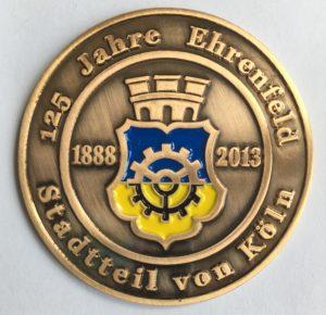 "Medaille 2013: ""125 Jahre Ehrenfeld Stadtteil von Köln"" (© Bürgervereinigung köln-Ehrenfeld)"